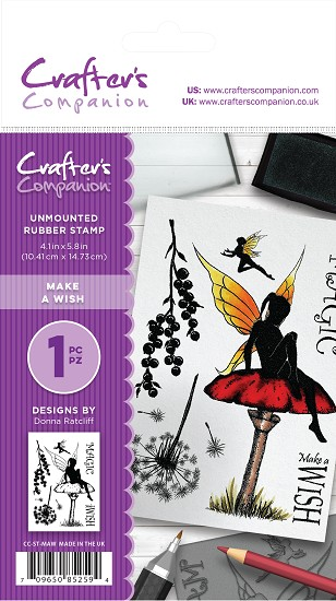 A6 Unmounted Rubberstempel - Crafter`s Companion - Make a Wish