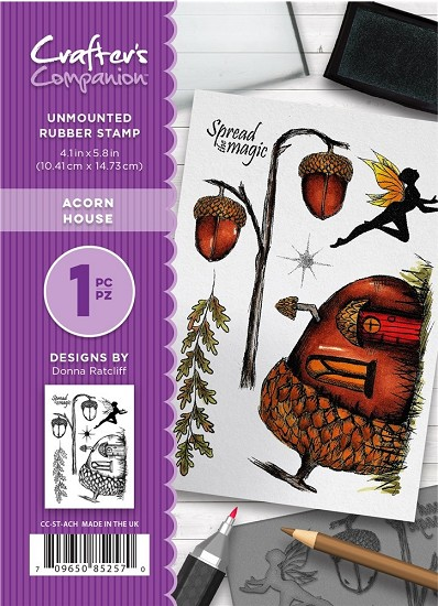 A6 Unmounted Rubberstempel - Crafter`s Companion - Acorn House