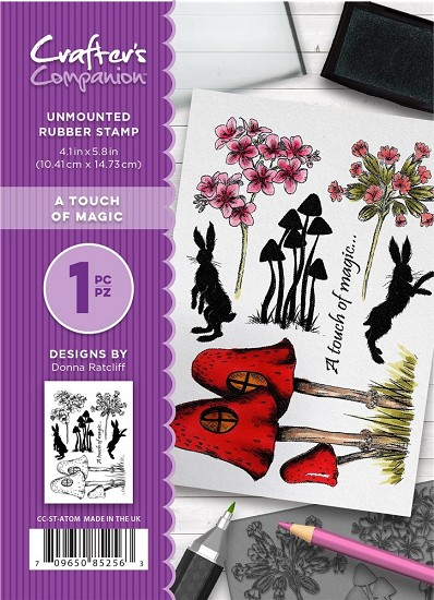 A6 Unmounted Rubberstempel - Crafter`s Companion - A Touch of Magic