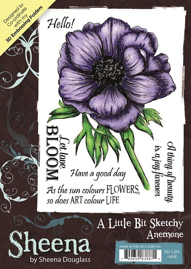 A6 Unmounted Rubberstempel - Sheena Douglass - Anemone