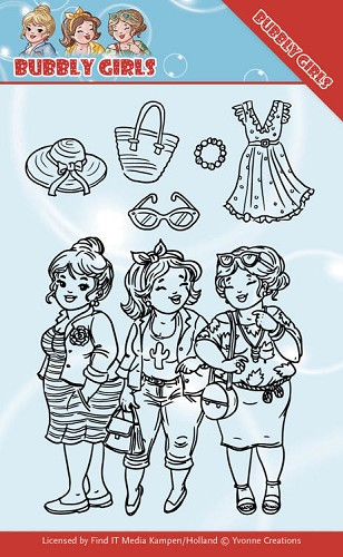 Clear Stamps - Yvonne Creations - Bubbly Girls - Girlfriend