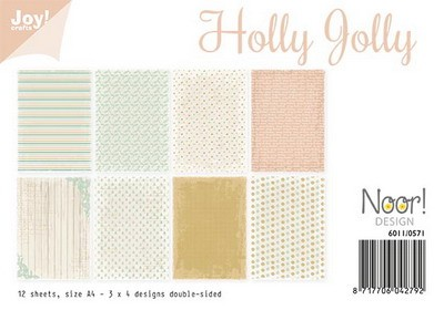 Noor! Design - Paperpad A4 - Holly Jolly