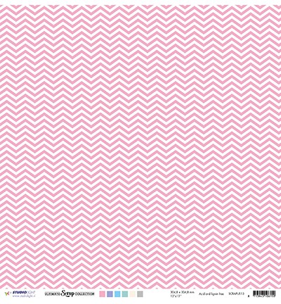 Studio Light - Scrappapier Ultimate Scrap Collection - nr.13 Roze dots & chevron