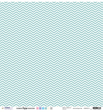 Studio Light - Scrappapier Ultimate Scrap Collection - nr.16 Mint dots & chevron