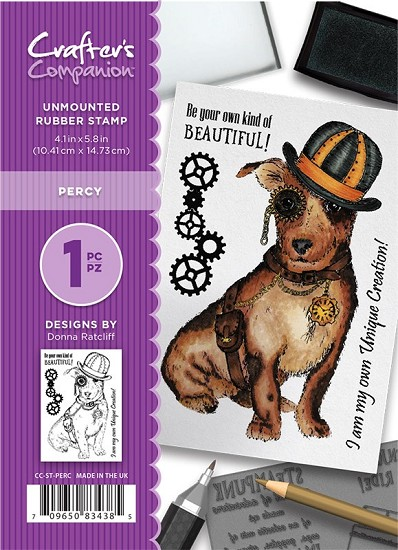 A6 Unmounted Rubberstempel - Crafter`s Companion - Percy