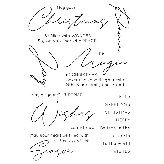 Kaisercraft - Clear stamp mix & match - Christmas Wishes