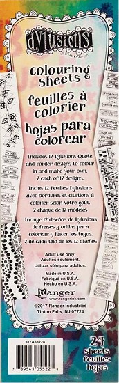 Dyan Reaveley`s - Dylusions Coloring Sheets - Borders