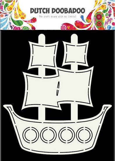 Dutch Doobadoo - Dutch Card Art - Pirate ship