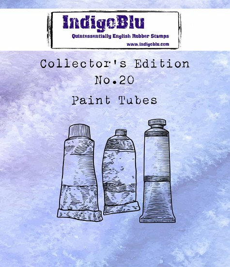 IndigoBlu - Rubber Stamp - Collectors Edition 20 - Paint Tubes