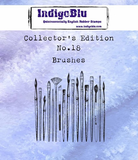 IndigoBlu - Rubber Stamp - Collectors Edition 18 - Paint Brushes
