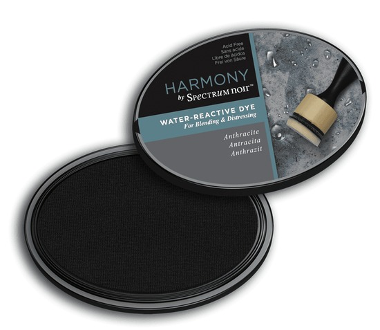 Crafter`s Companion Ink - Harmony Water Reactive Dye Ink - Anthracite