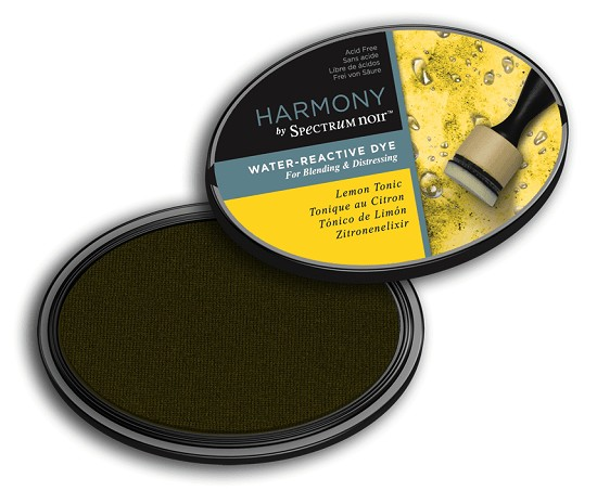Crafter`s Companion Ink - Harmony Water Reactive Dye Ink - Lemon Tonic