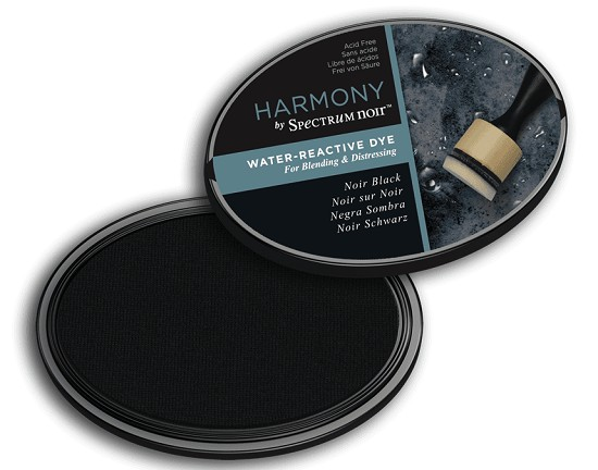 Crafter`s Companion Ink - Harmony Water Reactive Dye Ink - Noir / Black
