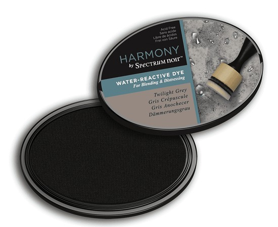 Crafter`s Companion Ink - Harmony Water Reactive Dye Ink - Twilight Grey