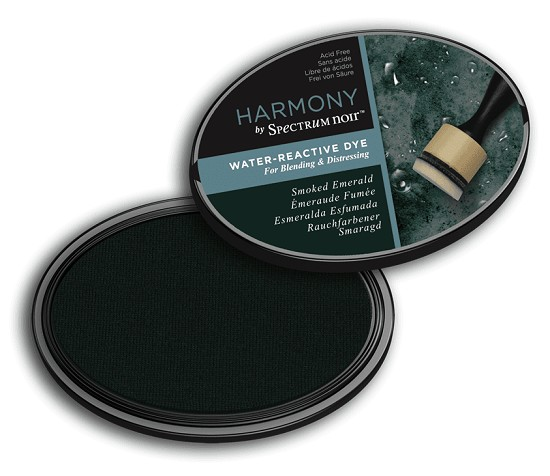 Crafter`s Companion Ink - Harmony Water Reactive Dye Ink - Smoked Emerald