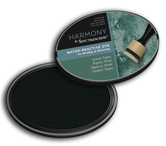 Crafter`s Companion Ink - Harmony Water Reactive Dye Ink - Green Topaz