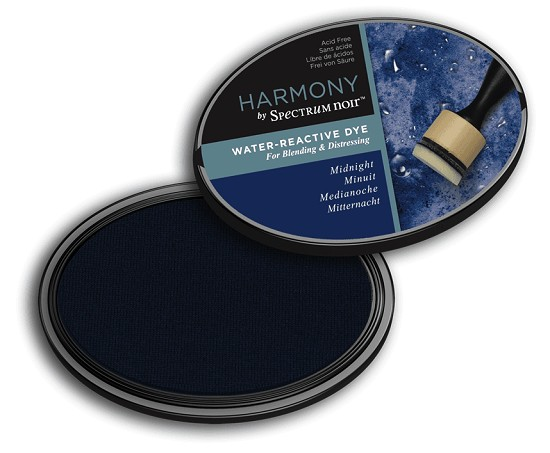 Crafter`s Companion Ink - Harmony Water Reactive Dye Ink - Midnight
