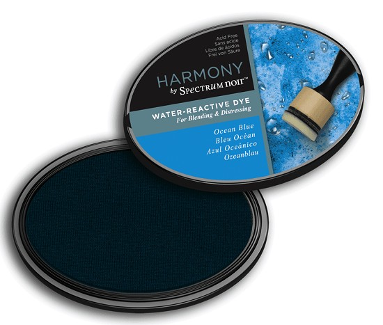 Crafter`s Companion Ink - Harmony Water Reactive Dye Ink - Ocean Blue