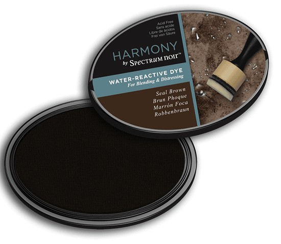 Crafter`s Companion Ink - Harmony Water Reactive Dye Ink - Seal Brown