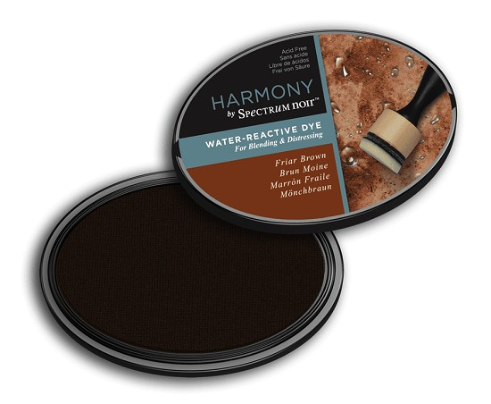 Crafter`s Companion Ink - Harmony Water Reactive Dye Ink - Friar Brown