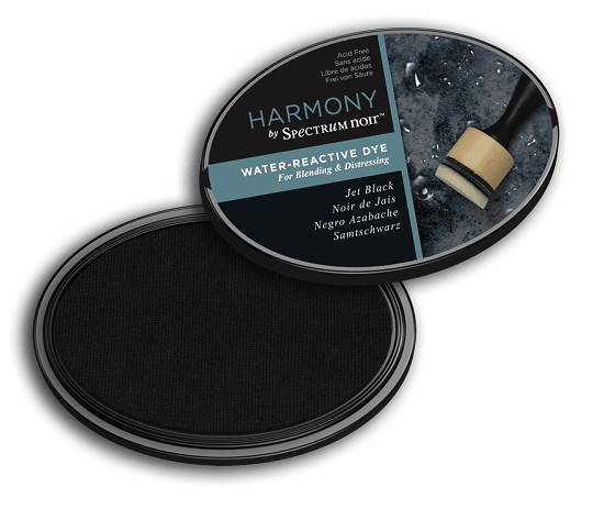 Crafter`s Companion Ink - Harmony Water Reactive Dye Ink - Jet Black