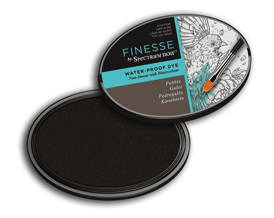 Crafter`s Companion Ink - Finesse ink - Water Proof - Pebble