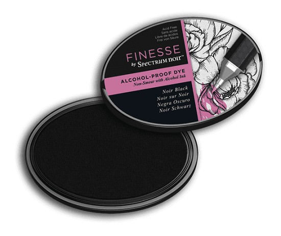 Crafter`s Companion Ink - Finesse ink - Alcohol Proof - Noir Black