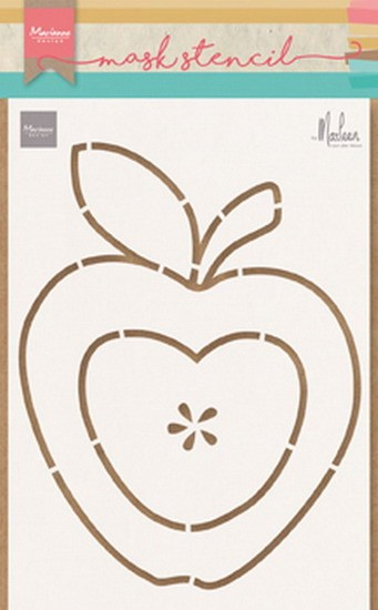 Marianne Design - Craft Stencil by Marleen - Apple