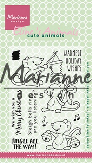 Marianne Design - Clearstamps - Eline`s Christmas Mice
