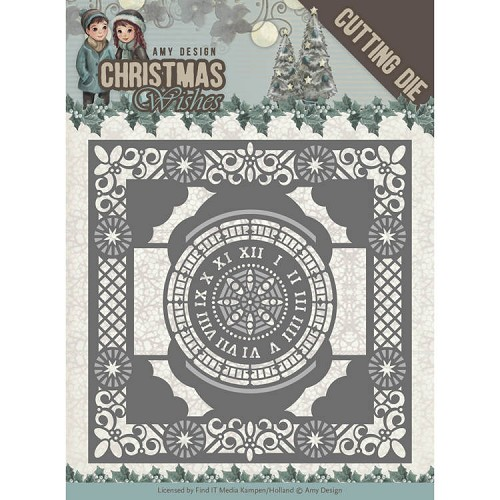 Dies - Amy Design - Christmas Wishes - Twelve O`clock frame