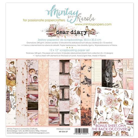 Paperpad Mintay - Dear Dairy 30,5 x 30,5 cm - MT-DIA-07