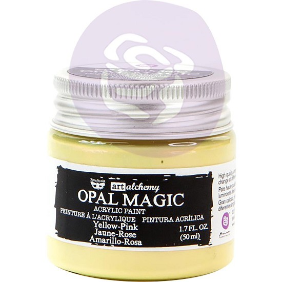 Finnabair Art Alchemy - Acrylic Paint - Opal Magic Yellow/Pink