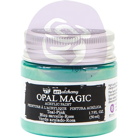 Finnabair Art Alchemy - Acrylic Paint - Opal Magic Teal/Pink