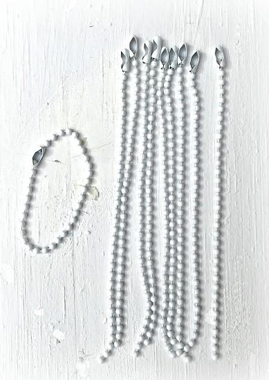 Metalen ketting - 12 cm white - 10 stuks