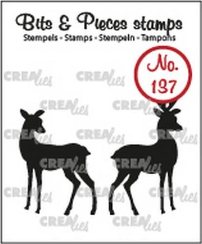 Crealies - Clearstamp Bits & Pieces - Hertjes