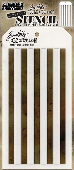 Tim Holtz - Layering Stencil - Shifter Stripes