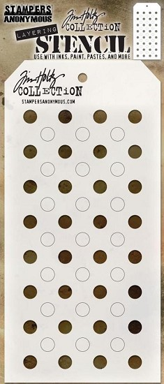 Tim Holtz - Layering Stencil - Shifter Dots