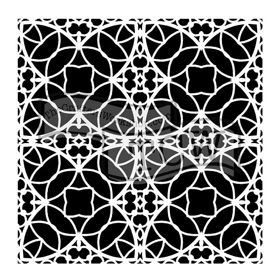 "Mask Stencil - Crafter`s Workshop - 6"" x 6"" - Spanish Tile"