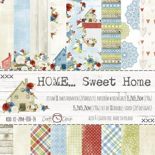 Craft-O-Clock - Paper Collection Set 15,2 x 15,2 cm - Home Sweet Home