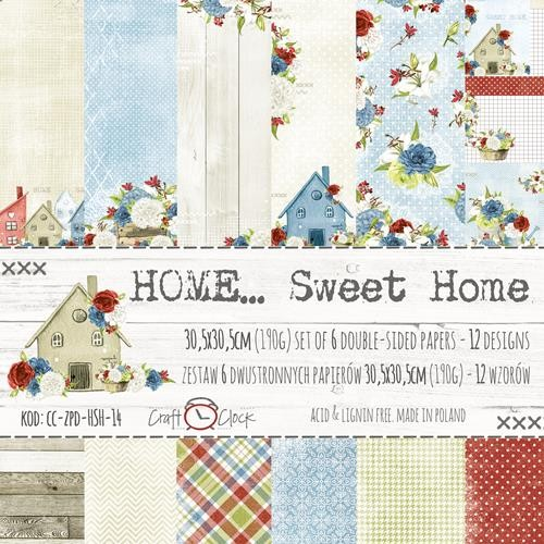 Craft-O-Clock - Paper Collection Set 30,5 x 30,5 cm - Home Sweet Home