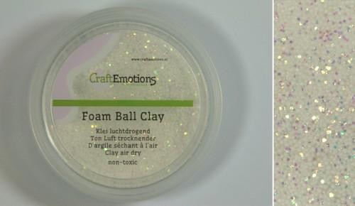 CraftEmotions - Foamball clay - glitter wit