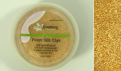 CraftEmotions - Foamball clay - goud glitter