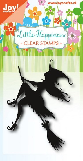 Noor! Design - Clearstamp Little Happiness - Halloween Flying Witch
