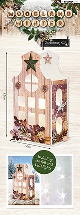 Studio Light - MDF Set Lantern incl verlichting - Woodland Winter