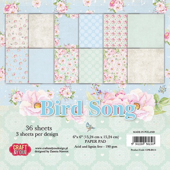 Paperpad Craft and You - 15,2 x 15,2 cm - Birdsong