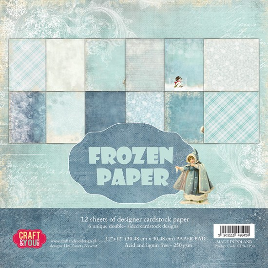 Paperpad Craft and You - 30,5 x 30,5 cm - Frozen
