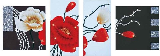 Diamond Dotz - 142 x 50 cm - Art Deco Poppies - DD14.002
