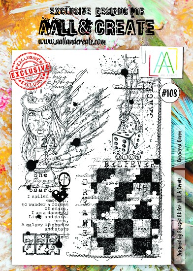 AALL & CREATE - Clearstamp A4 - number 108