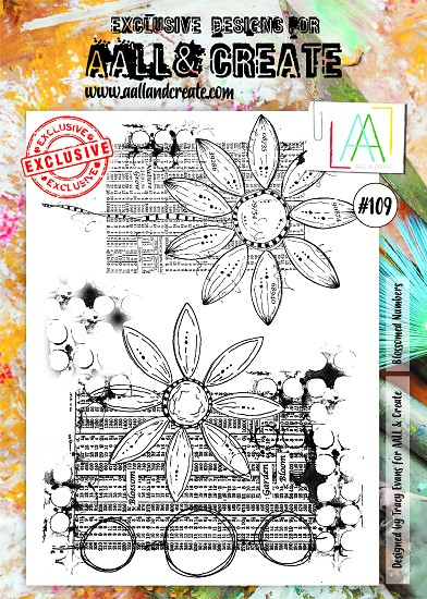 AALL & CREATE - Clearstamp A4 - number 109