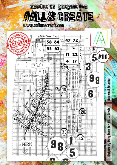AALL & CREATE - Clearstamp A4 - number 110